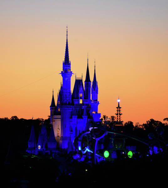 Tomorrowland Photograph - Cinderellas Castle At Dusk by David Lee Thompson