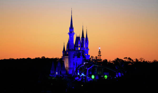 Tomorrowland Photograph - Cinderellas Castle In Blue by David Lee Thompson