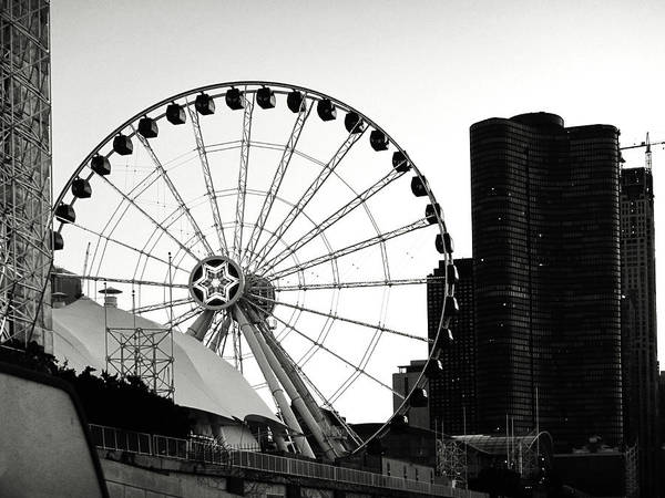 Photograph - Centennial Ferris Wheel Chicago by Marilyn Hunt