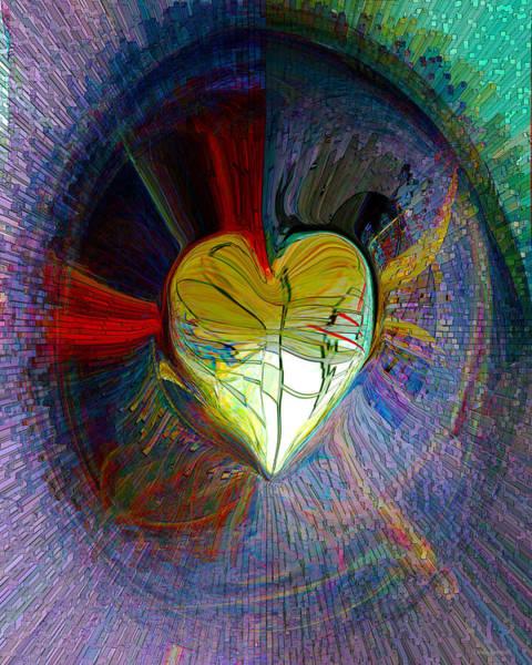 Wall Art - Digital Art - Center Of The Heart by Linda Sannuti