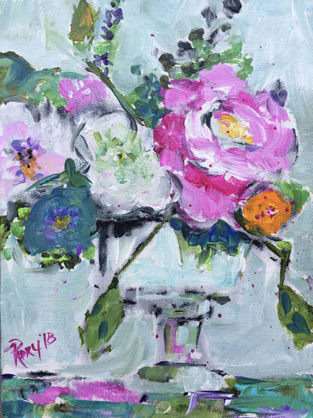 Abstract Painting - Centerpiece by Roxy Rich