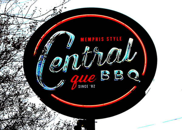 Q Digital Art - Central Bbq, Memphis by Matt Richardson