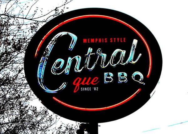 Bbq Digital Art - Central Bbq, Memphis by Matt Richardson