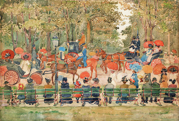 Wall Art - Painting - Central Park 1901 - Digital Remastered Edition by Maurice Brazil Prendergast