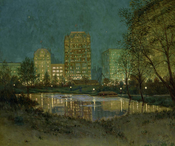 Wall Art - Painting - Central Park And The Plaza, 1918 by William Anderson Coffin
