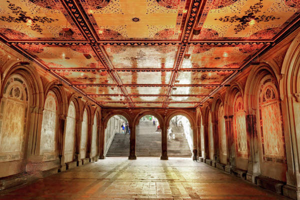 Photograph - Central Park Bethesda Terrace by Kay Brewer