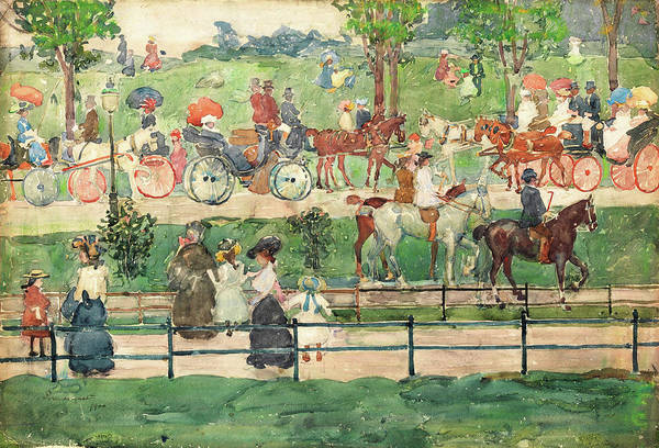 Wall Art - Painting - Central Park - Digital Remastered Edition by Maurice Brazil Prendergast
