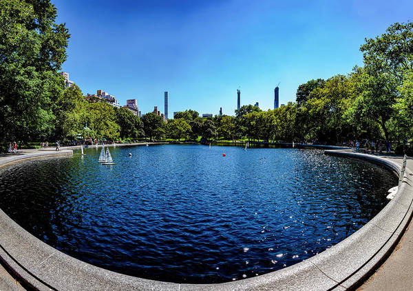Photograph - Central Park Model Boat Lake Panorama by Robert Ullmann