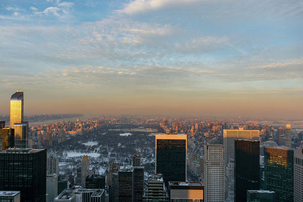 Photograph - Central Park Winter Sunset by Mark Hunter