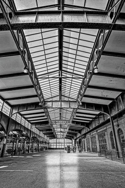 Photograph - Central Railroad Of New Jersey Crrnj Bw by Susan Candelario