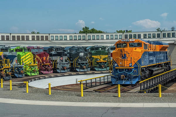 Photograph - Central Railroad Of New Jersey On The Turntable by Matthew Irvin