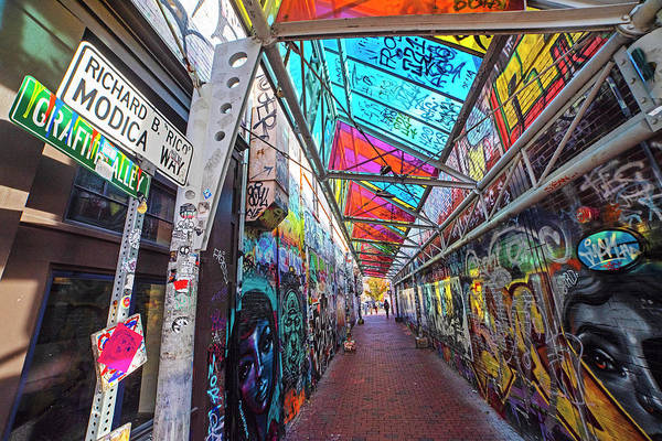 Photograph - Central Square Cambridge Ma Graffiti Alley Cambridge Massachusetts by Toby McGuire