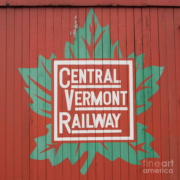 Wall Art - Photograph - Central Vermont Railway by Edward Fielding