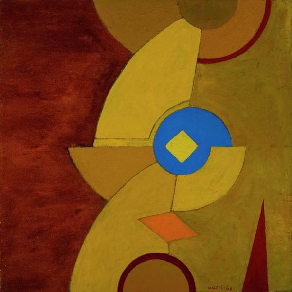 Triangles Painting - Ceremonial Knives, 2004 Mixed Media On by Ignacio Auzike