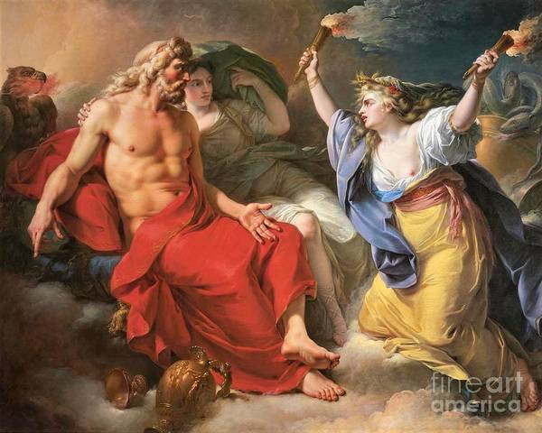 Wall Art - Painting - Ceres Begging Jupiter by Pg Reproductions