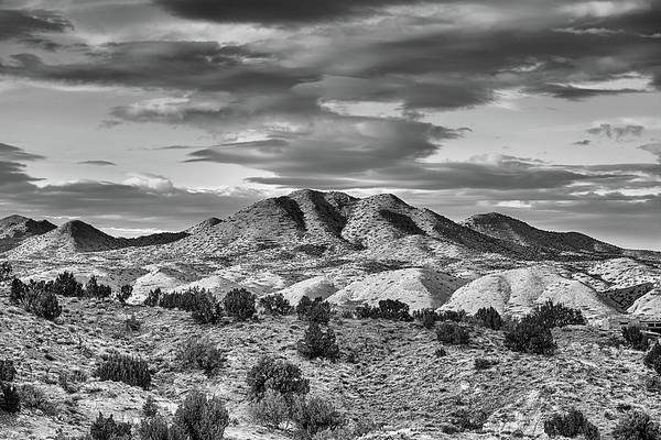 Photograph - Cerrillos Hills Black And White by JC Findley