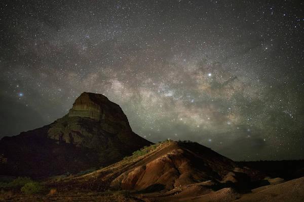 Photograph - Cerro Castillano Under The Milky Way   by Harriet Feagin