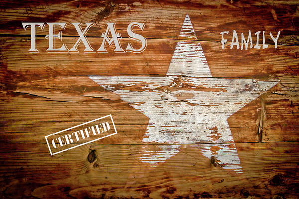 Wall Art - Digital Art - Certified Texas Family by Daniel Hagerman