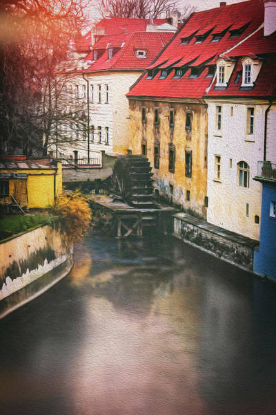 Praha Wall Art - Photograph - Certovka Canal And Old Water Wheel Prague by Carol Japp