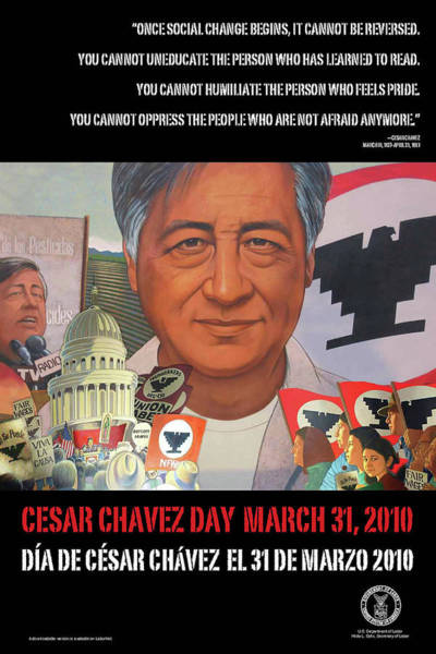 Wall Art - Photograph - Cesar Chavez Poster by Mountain Dreams