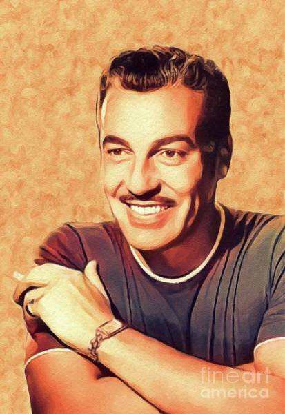 Cesar Wall Art - Painting - Cesar Romero, Vintage Actor by John Springfield