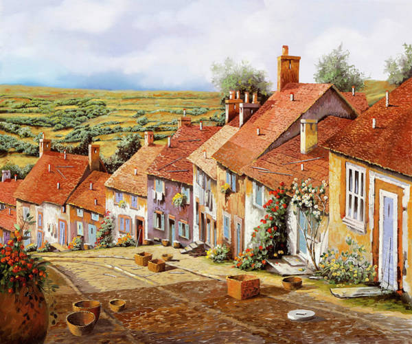 Wall Art - Painting - Ceste Sulla Discesa by Guido Borelli
