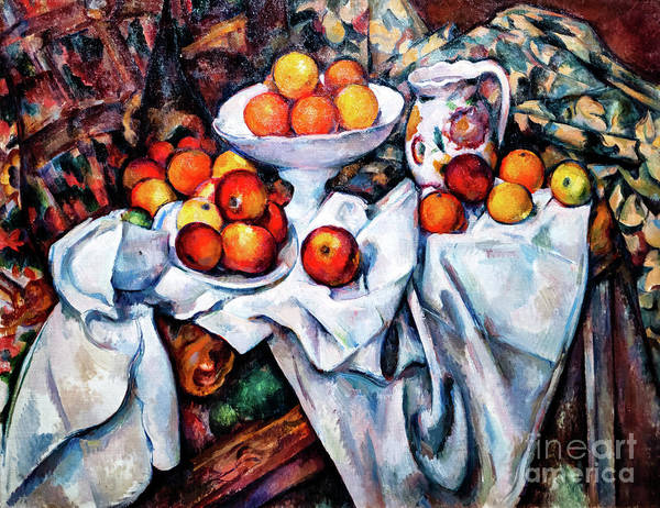 Painting - Cezanne Apples And Oranges by Paul Cezanne