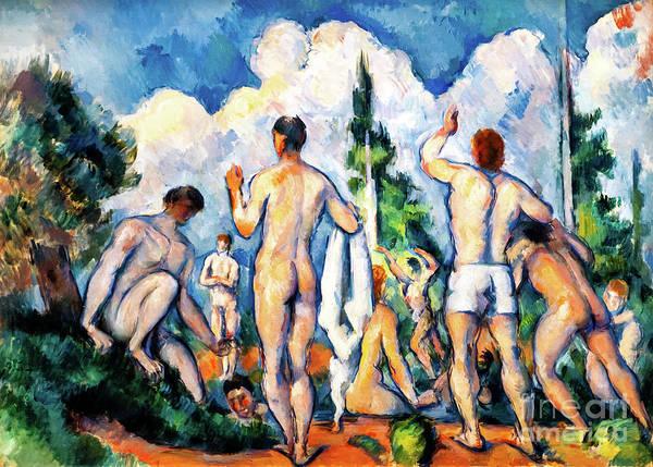 Painting - Cezanne Bathers by Paul Cezanne