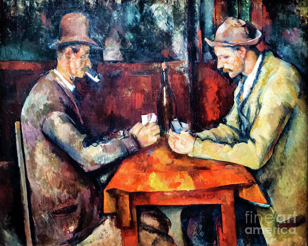 Painting - Cezanne The Card Players by Paul Cezanne