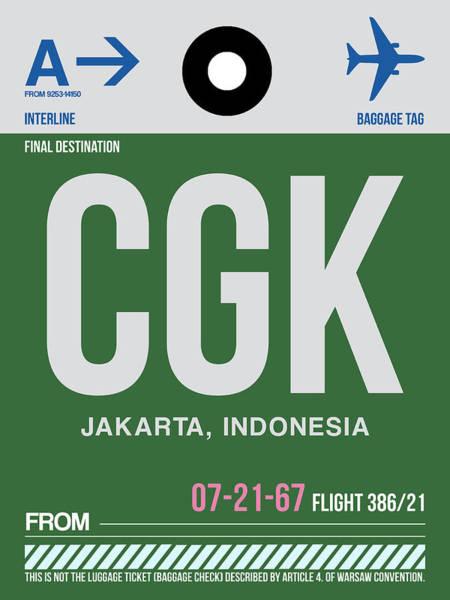 Wall Art - Digital Art - Cgk Jakarta Luggage Tag II by Naxart Studio