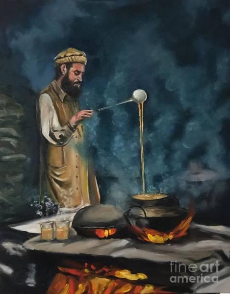 Painting - Chai Wala by Nizar MacNojia