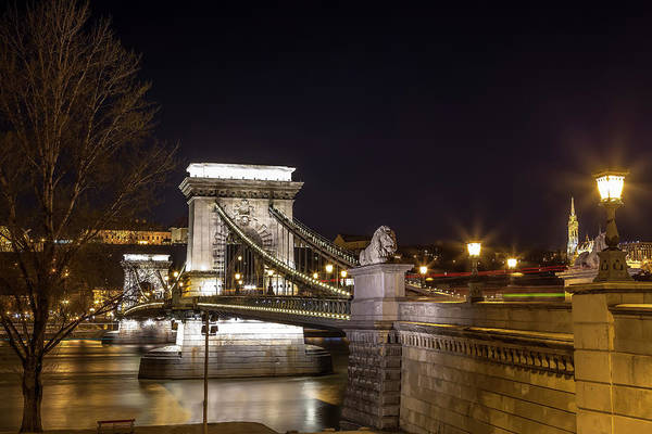 Wall Art - Photograph - Chain Bridge At Night by Andrew Soundarajan