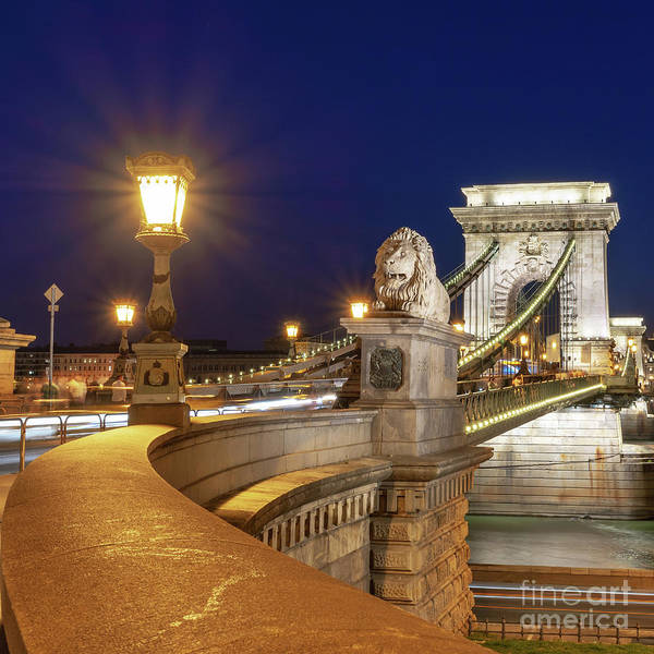 Wall Art - Photograph - Chain Bridge, Budapest by Delphimages Photo Creations