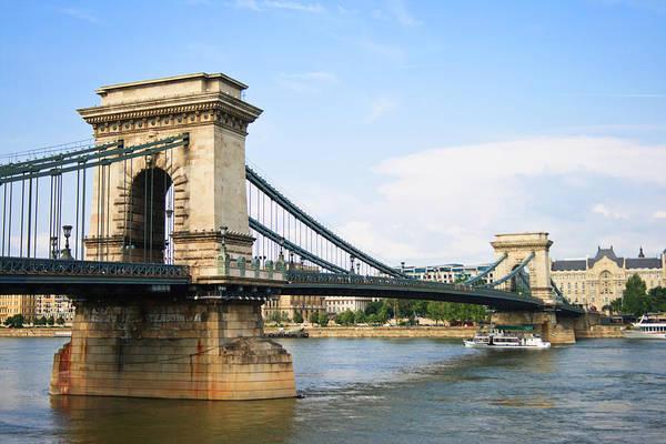 Danube Photograph - Chain Bridge, Budapest, Hungary by Wekwek