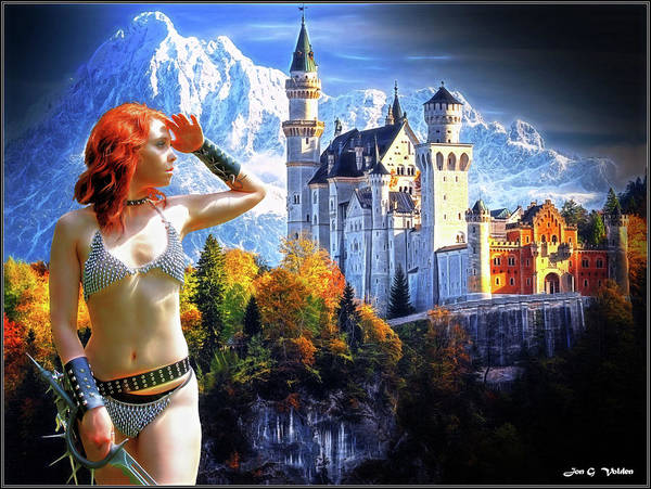 Photograph - Chain Mail Maiden And Castle by Jon Volden