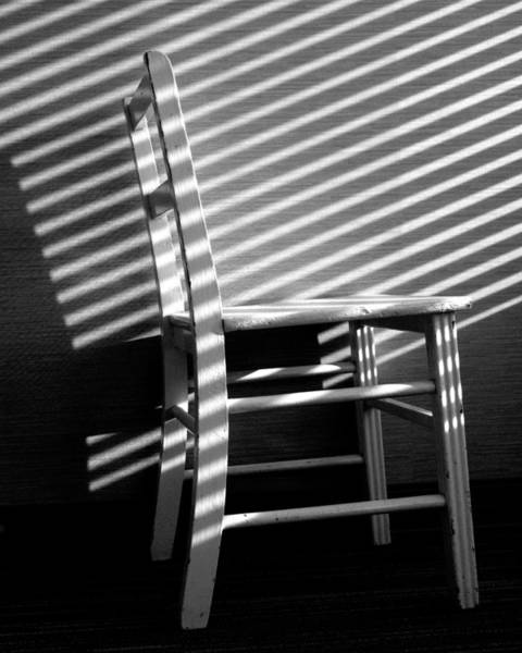 Photograph - Blinds 1 / The Chair Project by Dutch Bieber