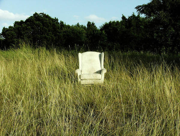 Armchair Photograph - Chair  In Grass by Highcastle Photography