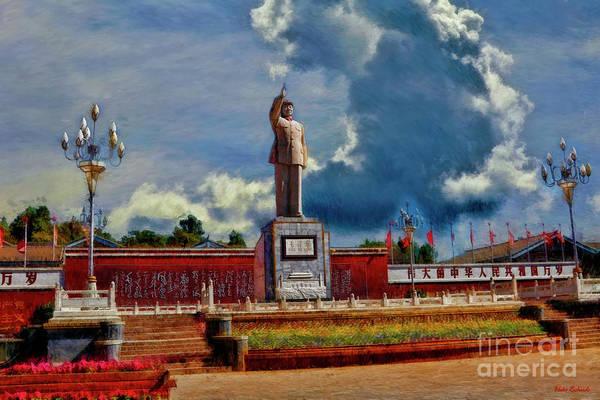 Photograph - Chairman Mao Memorial Statue In Lijiang by Blake Richards