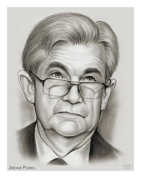 Wall Art - Drawing - Chairman Powell by Greg Joens