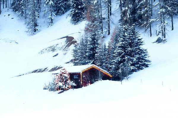 Chalet Photograph - Chalet, Frauenkirch Near Davos by Altrendo Travel