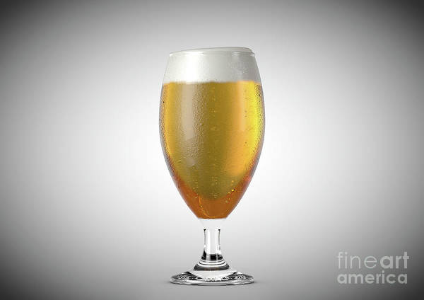 Frosty Digital Art - Chalice Beer Pint by Allan Swart