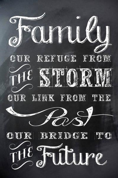 Wall Art - Digital Art - Chalkboard Ode To The Familey by Daniel Hagerman