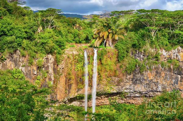 Wall Art - Photograph - Chamarel Waterfall. Beautiful Landscape. Mauritius by MotHaiBaPhoto Prints