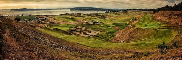 Wall Art - Photograph - Chambers Bay Golf Course Panoramic  by Jerry Abbott