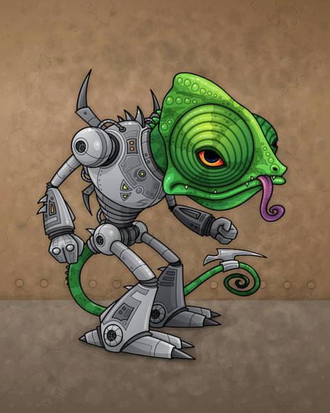 Lizards Digital Art - Chameleozoid by John Schwegel