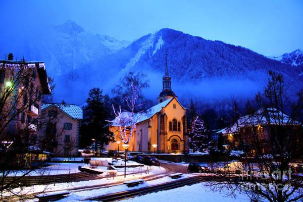 Christmass Photograph - Chamonix-mont-blanc Resort In France by Iryna Vlasenko