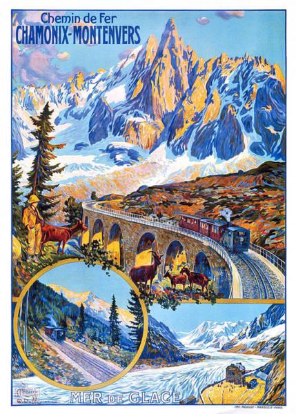Chamonix Wall Art - Digital Art - Chamonix Montevers Railway by Long Shot