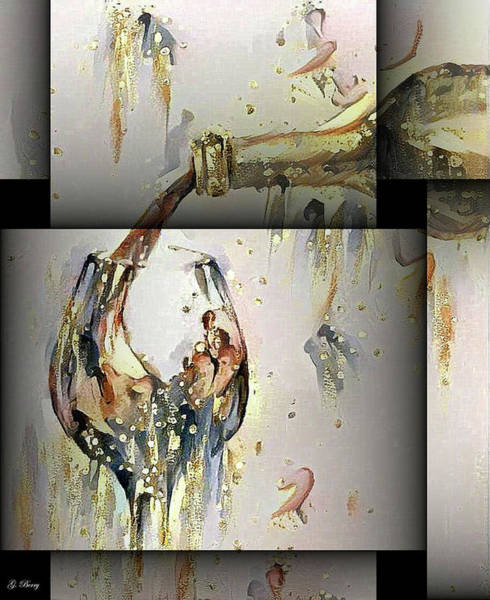 Champagne And Bubbles Art Print