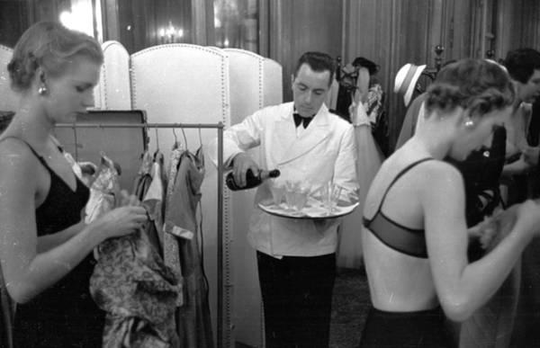 Waiter Photograph - Champagne Break by Kurt Hutton