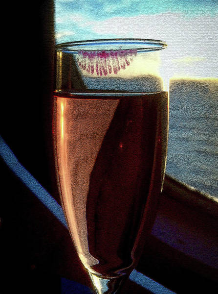 Photograph - Champagne Glass Lipstick by Bill Swartwout Photography